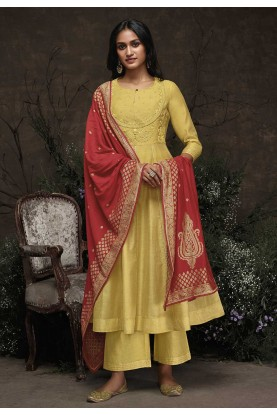 Yellow Colour Designer Salwar Kameez.
