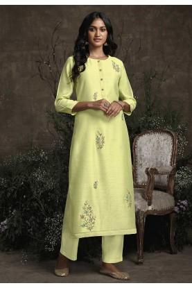 Designer Readymade Kurti Pista Green Colour.