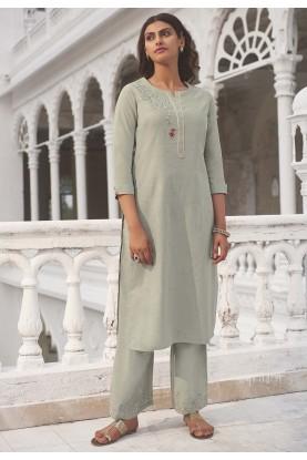 Grey Colour Stylish Designer Kurti.