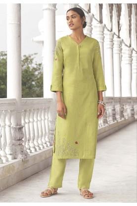Lemon Colour Indian Designer Kurti.