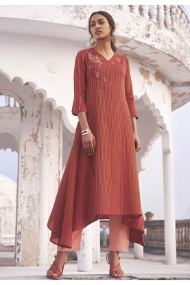 Indian Designer Kurti Red Colour.
