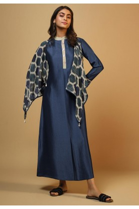 Party Wear Kurti Blue Colour.