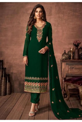Indian Designer Salwar Kameez Green Colour.