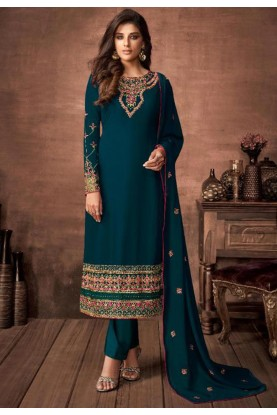 Rama Green Colour Women Salwar Suit.