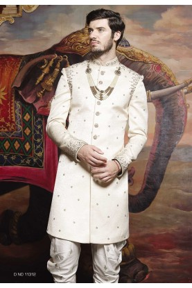 Off White Color Sherwani.