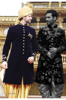 Blue Color Indian Sherwani.