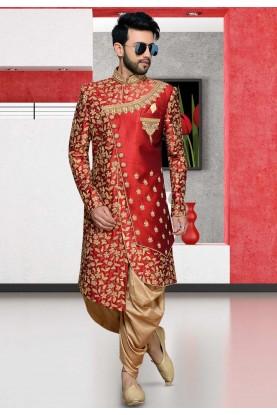 Red,Maroon Colour Designer Indowestern.