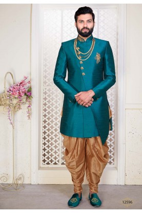 Green Colour Men's Designer Indowestern.