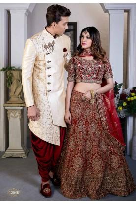 Golden Colour Silk Designer Indowestern.