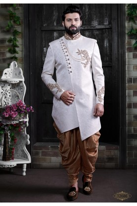White Colour Indian Wedding Indowestern.