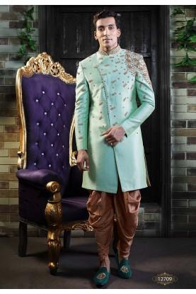 Turquoise Colour Men's Indowestern.