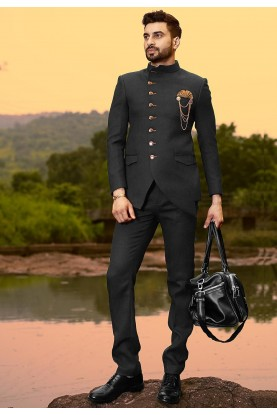 Buy exclusive designer suits for men in black colour online