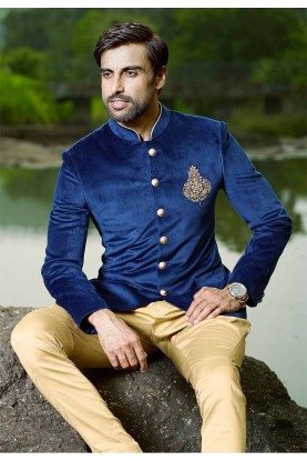 Buy top designer suits for men in blue colour