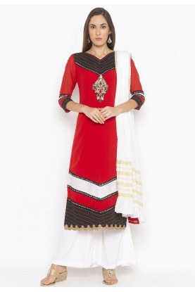 Red Colour Women Salwar Suit.