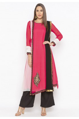 Pink Colour Embroidery Salwar Kameez.