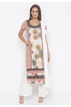 Cotton Salwar Kameez Peach Colour.
