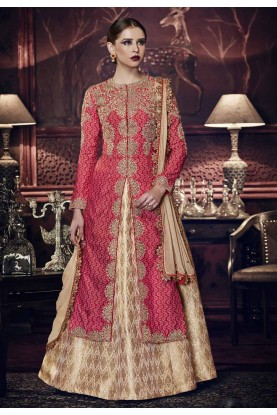 Lovely Designer Salwar Kameez in Red Color