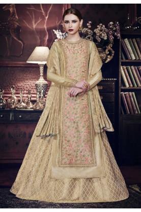 Beige Color Designer Anarkali Salwar Kameez