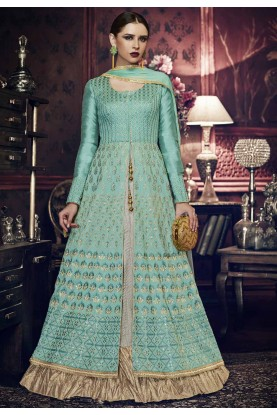 Wonderful Turquoise Color Designer Salwar Kameez