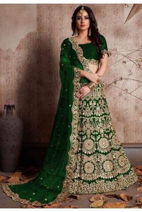 Green Color Bridesmaid lehenga Online