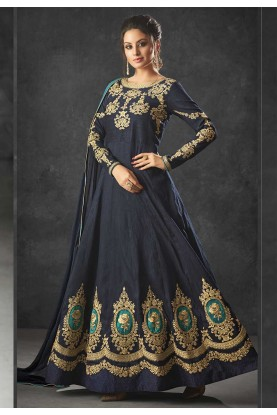 Blue Color Party Wear Salwar Kameez.