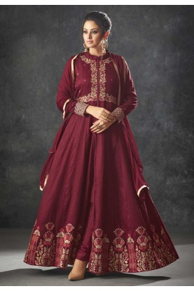 Maroon Color Indian Designer Salwar Suit.