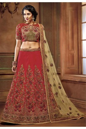 Maroon Colour Wedding Lehenga Choli