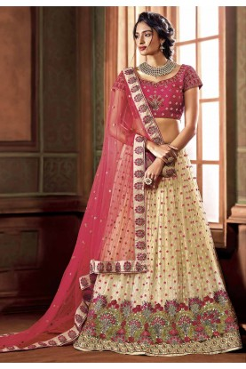 Cream Colour Designer Lehenga.