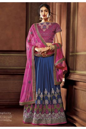 Blue Colour Party Wear Lehenga.