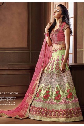 Green Colour Lehenga.