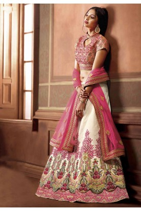 White Colour Designer Lehenga.