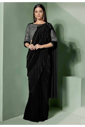 Black Colour Fancy Saree.