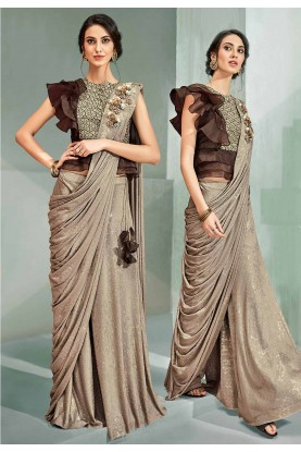 Beige Colour Designer Saree.
