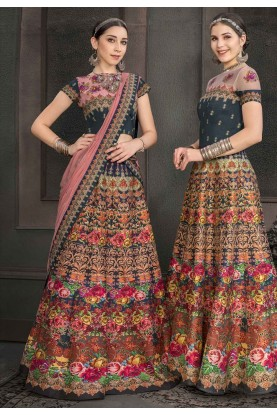 Multi Colour Designer Lehenga Choli.