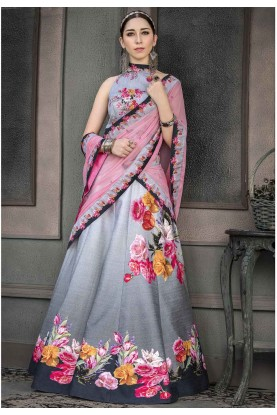 Grey Colour Lehenga Choli.