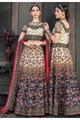 Beautiful Printed Lehenga Choli in Blue Colour