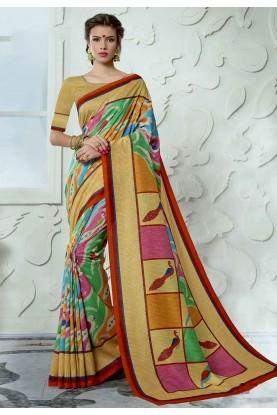 Multi Colour Colourful Saree.