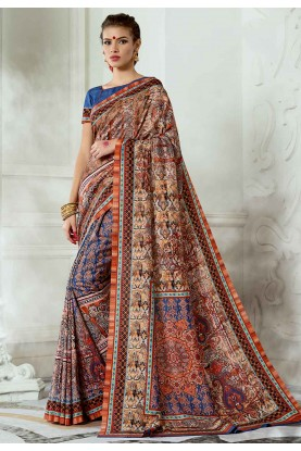 Printed Silk Saree.