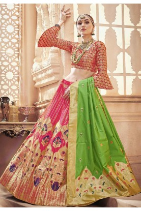 Pink Colour Lehenga Choli.