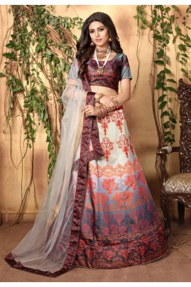 Multi Colour Colourful Lehenga Choli.