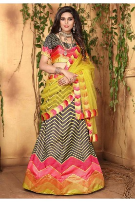 Black,Multi Colour Lehenga Choli.