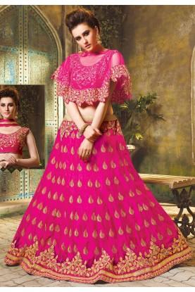 Rani Pink Colour Designer Lehenga Choli.