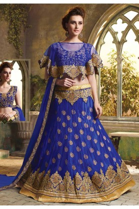 Blue Colour Party Wear Lehenga Choli.
