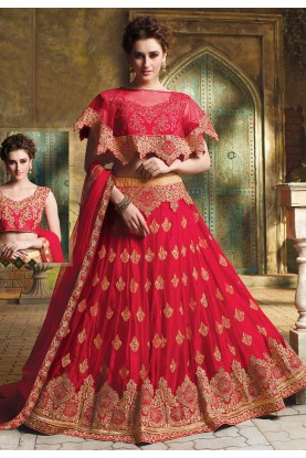 Red Wedding Lehenga Choli.