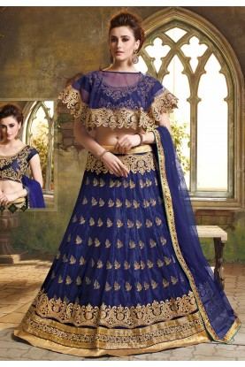 Blue Colour Designer Lehenga.