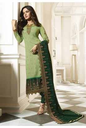 Green Color Indian Designer Salwar Suit.