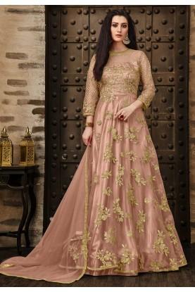 Pink Color Net Salwar Kameez.