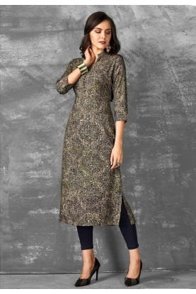Multi Color Printed Readymade Kurti.