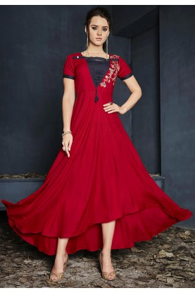 Red Color Stylish Designer Kurti.
