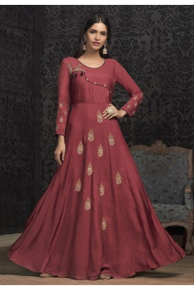 Pink Color Designer Women Gown.